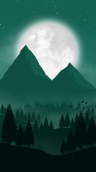 Landscape [7] - Moonlight Mountain by ncoll36