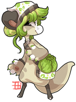 #451 Nomnom Bagbean - Cabbage - closed by griffsnuff
