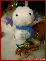 Wooper Snowmon Ornament by sorjei