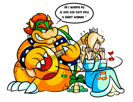 Commission - Big Bowser's Ukelele Solo by JamesmanTheRegenold
