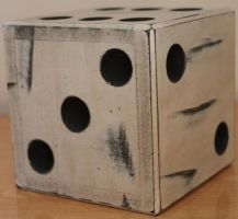 White Giant Dice Stock 001 by TundraStock