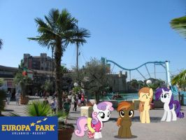 Button Mash and Sweetie Belle in Europapark by Phi1997