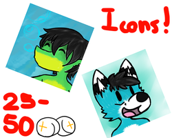Icon commissions! - CLOSED for now - by Bradley-The-Blue-Fox