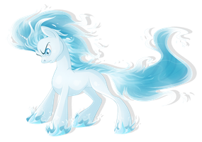 Custom: Ice-Fire Pony by BlackFreya