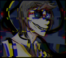 Corrupted Wheatley: Glitch art by gabsters109