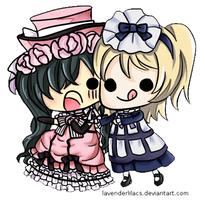 Lady Ciel and Maid Alois by lavenly