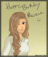 Happy Birthday Marzia by AmagumoAsh