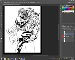 WIP - Ironman and Ms Marvel Still by adambn