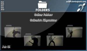Guitar Folders - Guitarist Silhouettes Set 01 by od3f1