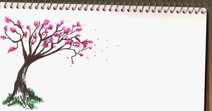 Pink Leaves In The Wind (unfinished) by GothicBlueEyes
