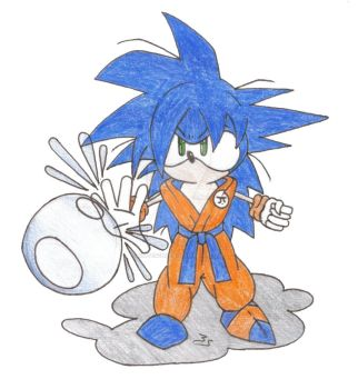 Gonic: Sonic and Goku 1 by Kniteschaed