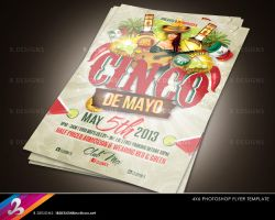 Cinco De Mayo Party Flyer Template by AnotherBcreation