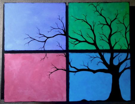 4-part Tree by syndaria3