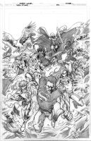 Teen Titans 82 cover pencils by Cinar