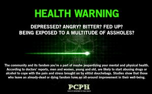 PCPH Health Warning Poster by MrAngryDog