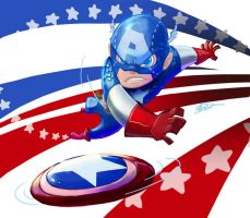 SD Captain America by lanbow2000