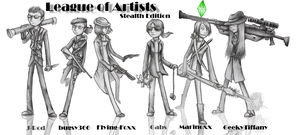 Kickin It Old School: League of Artists by Flying-Foxx