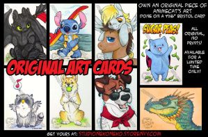 Original Art Cards: Available Now by StudioNeko