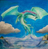 Mr Hillegas Dragon by MirandaPavelle