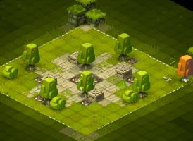 Krosmaster Project: Trees and bushes researches by Sevpoolay