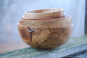 Stack of Bowls by TheHeartwoodStudio