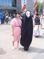 Chihiro and No Face by DreamsWithinMe
