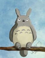 Daily Sketch Challenge - Totoro by Eeddey