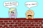 Ponies and Peanuts: Derpy and Charlie Brown by AllonsoBronyguy