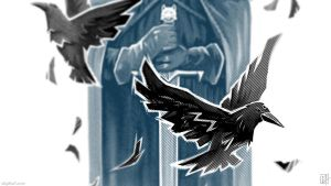 Wolf And Ravens WP by C0y0te7