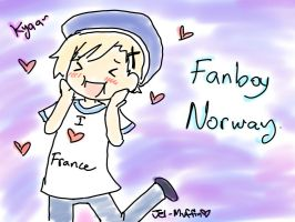 Fanboy Norway loves France. 8D by Jei-Muffin