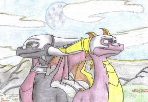 Cynder and Spyro in Avalar by Smart-7
