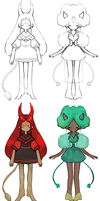 demon girl adopts (SOLD) by alebat