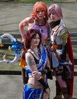 Final Fantasy 13 Girls. by FallMoonlitRose