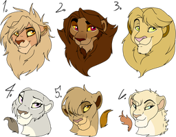 Lion Trades,sale,adopt -closed- 2 by oCrystal