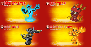 Skylander OCs: Series 3 - Fire by Proceleon