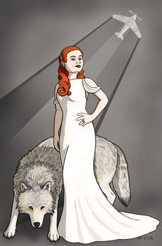 Amanda and the Wolf by Weaselon