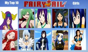 Favorite Fairy Tail Girls by Dragon-Cana-Love
