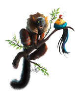 Red ruffed Lemur by Enigmasystem