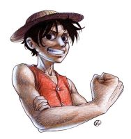 Luffy by earz-and-go