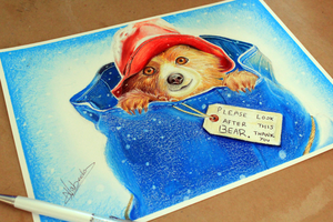 Paddington Bear Drawing by Artatyourservice