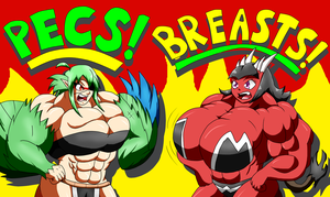 Pecs or Breasts!? You Decide! by Bioshin26