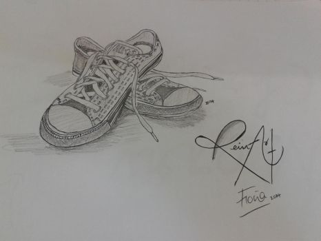 shoes #PencilArt by Fiona-theartist