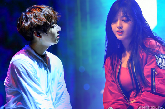 AOA Chanmi and BTS  Jungkook by BlackPearl-Yuri
