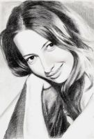 Amy Acker smile by MikeRobinsArt