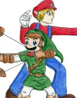 B Moves: Mario and Link by smashsweetie