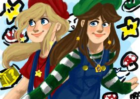 Mario Girls! by princessofDisney27