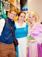 Flynn, Rapunzel and Belle @ San Japan 6 by akaolive