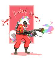 TF2: Unicorn Pyro by xCopycat