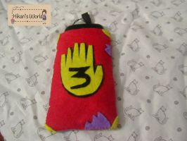 Gravity Falls Cellphone pouch Front by Hikarisworld