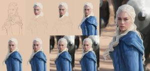 Daenerys Targaryen Process by Meepel